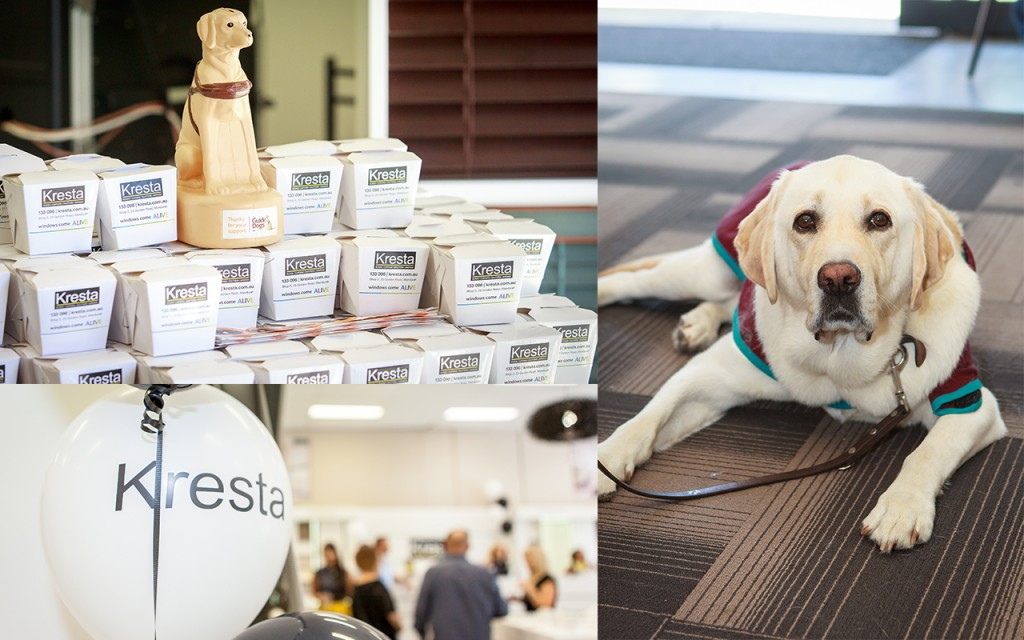 guide dogs wa, kresta australia, kresta blinds, charity, mandurah showroom